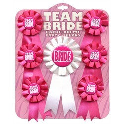 Bachelorette Team Bride Rosette Ribbon Set