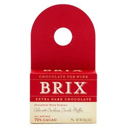 Brix Bottle Topper Extra Dark Chocolate 3 oz