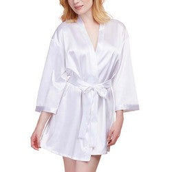 White Satin Bride Robe