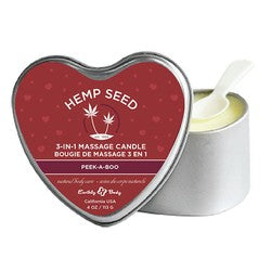 Earthly Body Hemp Seed 3 In 1 Massage Candle Peek A Boo