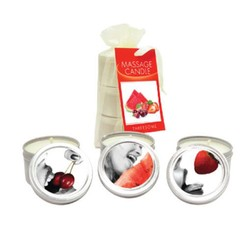 Earthly Body Lickable Massage Candle Threesome 3pc in Gift Bag