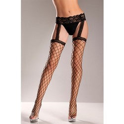 Fence Net Stocking and Garter Belt