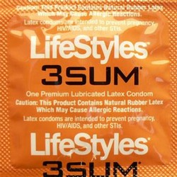 LifeStyles 3SUM Condom Tight Fit