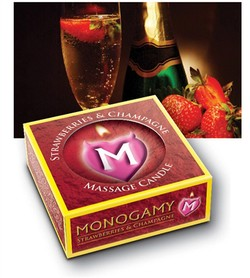 Monogamy Intimate Strawberries & Champagne Massage Candle