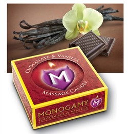Monogamy Passionate Chocolate and Vanilla Massage Candle