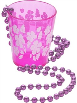 Pink Shot Glass on Beads