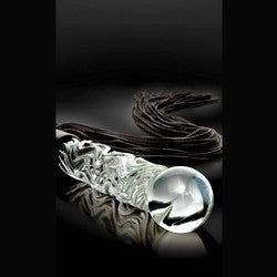 Pipedream Icicles No. 38 Hand Blown Glass Whip