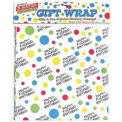 X Rated Birthday Gift Wrap