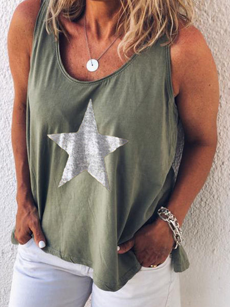 Women Casual Loose Tops Tunic Tanks Vest