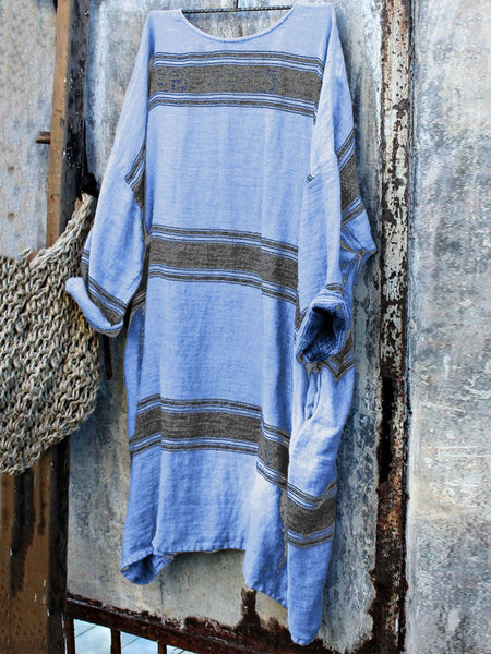 Linen Simple & Basic Long Sleeve Casual Dresses