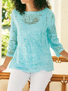 Women Relaxed Fit Sweater Tops Tunic Blouse Shirt