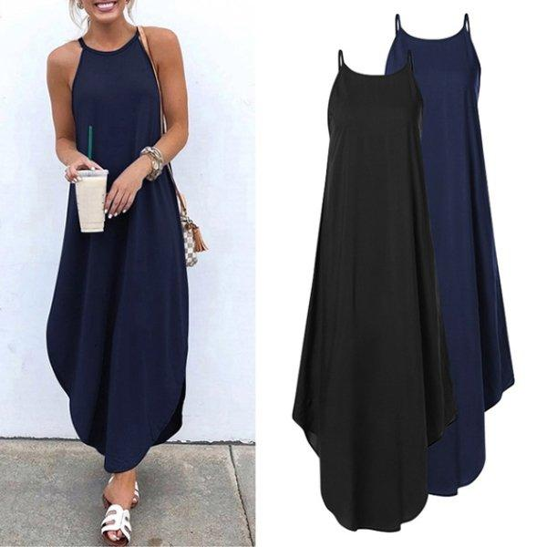Sleeveless Big Hem Dress Maxi Dresses