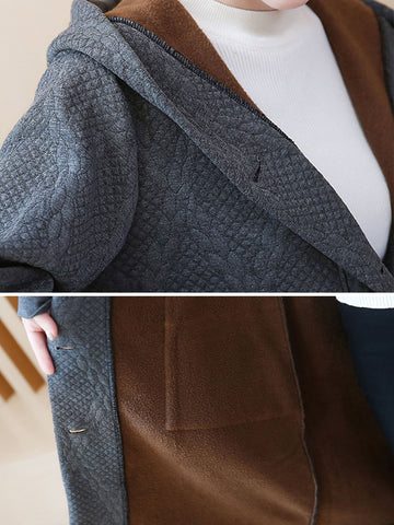 Thickened Plus Size  Appliqued Coats