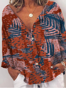 Printed Casual Shirts & Tops Plus Size
