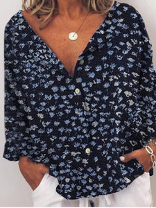 Floral-Printed Casual Shirts & Tops Plus Size