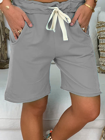 Casual Cotton Pockets Shorts