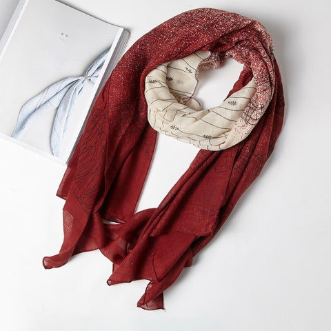 Autumn New Female Patchwork Cotton Linen Scarf Women Warm Tippet Casual Soft Lady Long Shawl
