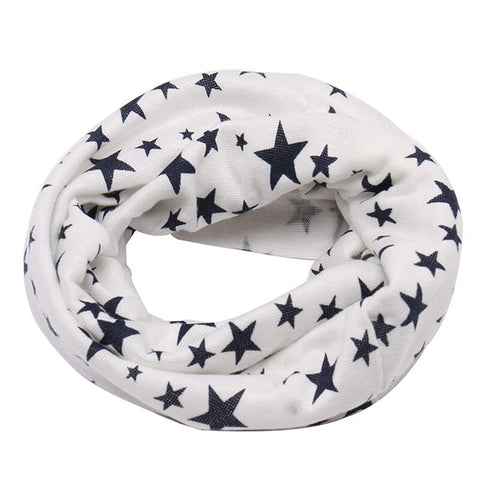 Autumn Winter Long Warm Star Print Children Scarf Snood Outdoor Neck Warmer