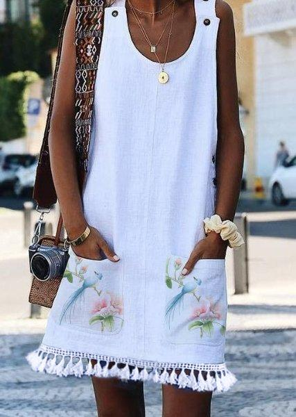 Cotton Sleeveless Casual Dresses