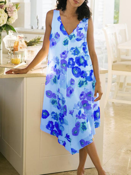Sleeveless Casual Printed Dresses