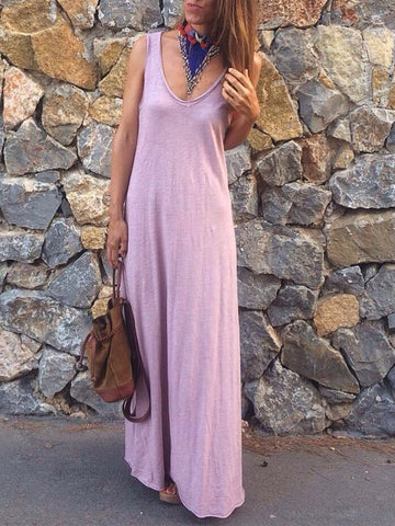 Bohemian casual cotton sleeveless dress