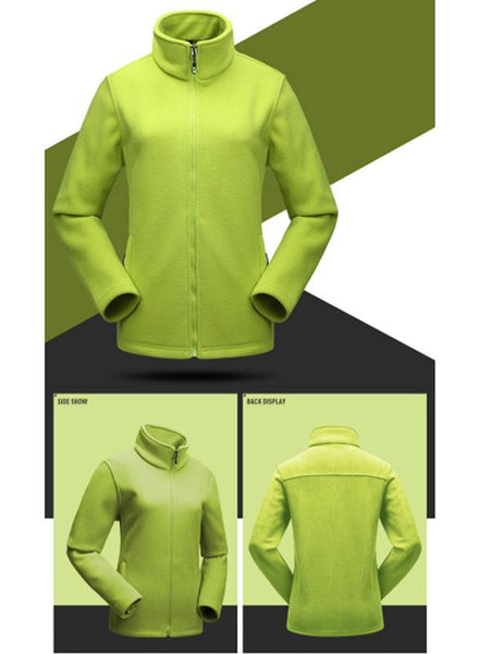 Outdoor Polar Fleece Breathable Windbreaker Shell Jacket