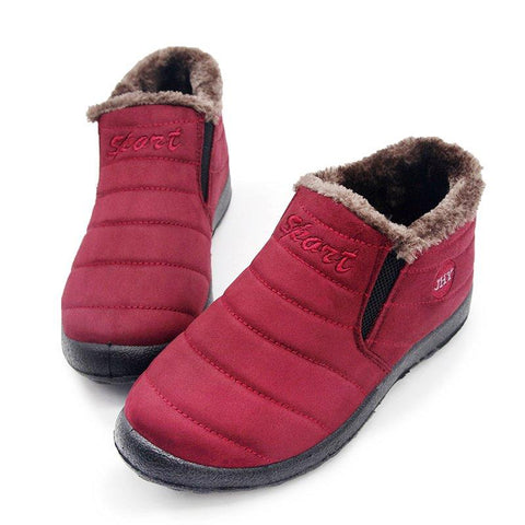 Women Snow Slip On Booties Casual Comfort Warm Shoes