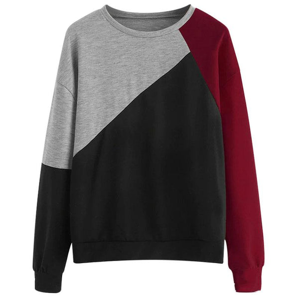 Round Neck Coloring Loose Sweater