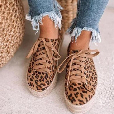 Women's Fashion Casual Lace-Up Flats