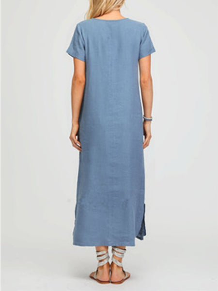 Crew Neck Women Maxi Dresses