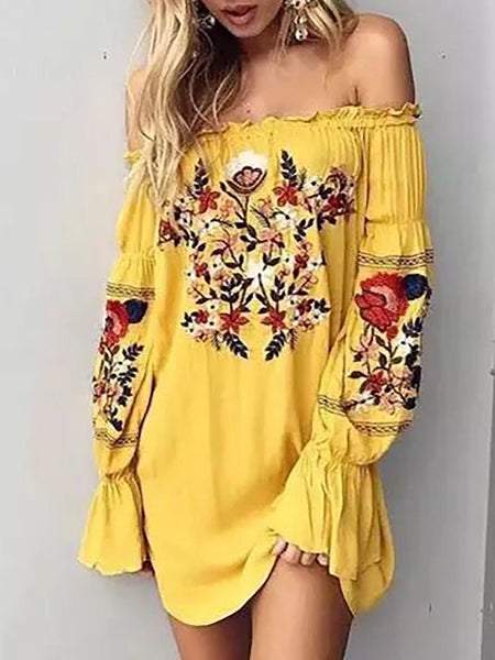 Ruffles Floral Beach Cover-Up