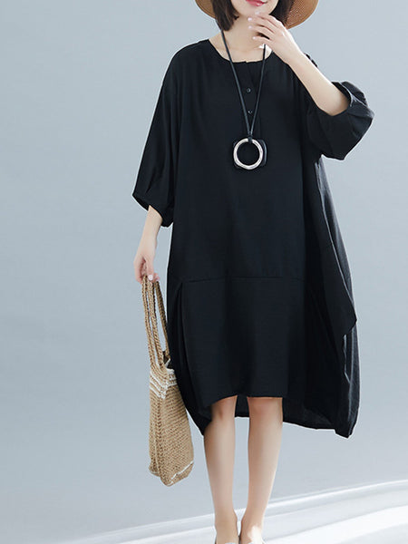 Round Neck Casual Dresses