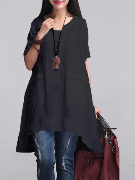 Linen Clothing For Women Sleeve Dress