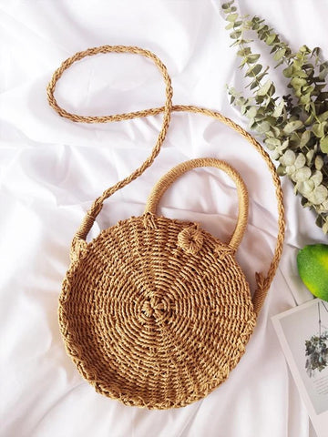 Beach Straw  Shoulder Bags women