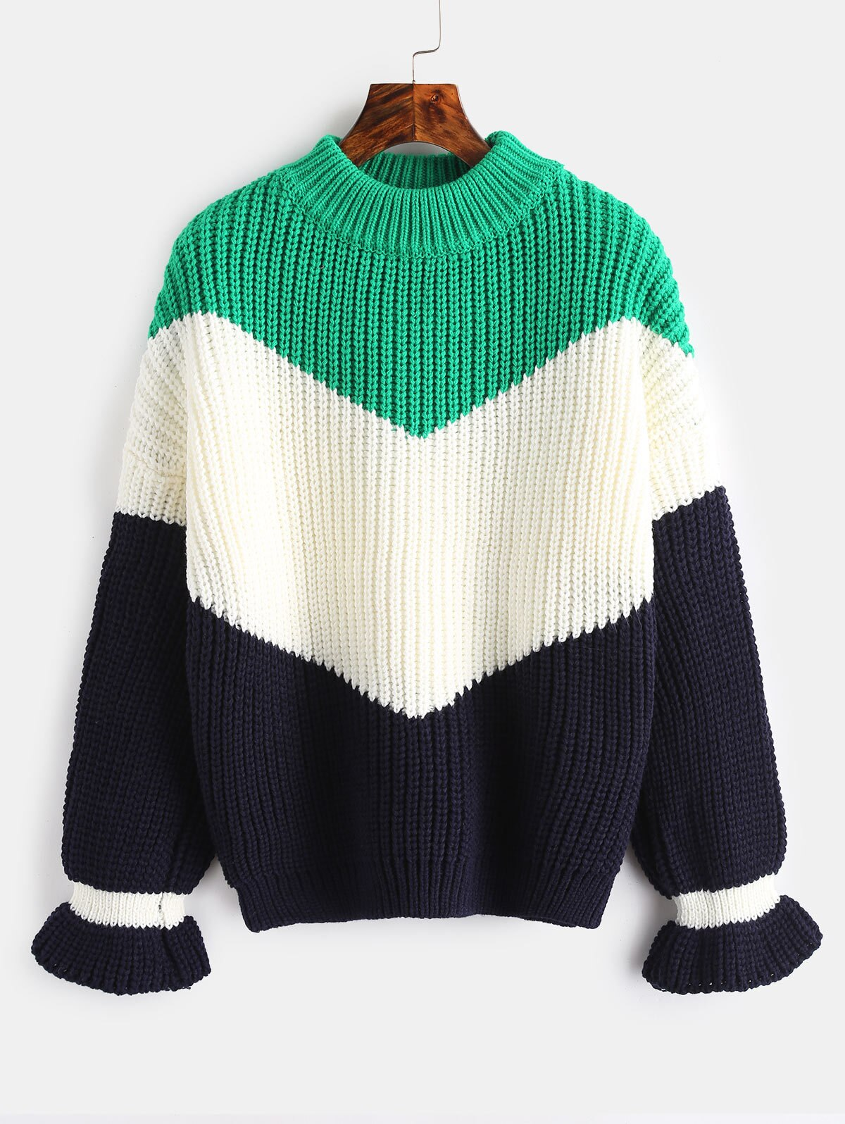 Hot Sale! Winter Womens Sweater O-Neck Striped Computer Knitted Casual Long Sleeve Rainbow Oversized Sweater Knit Sweater Women