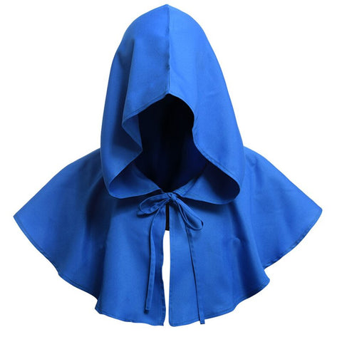 Party Cosplay Death Cloak Costumes Halloween Carnival Adults Hooded Cloak Retro Renaissance Priest Witch Wizard Devil Cape