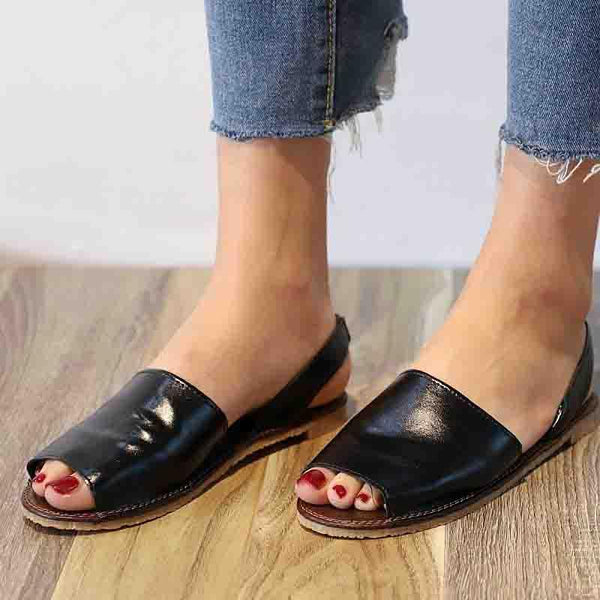Women PU Sandals Casual Peep Toe Outdoor Shoes