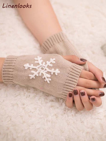 Women Fingerless Knitted Mittens & Gloves