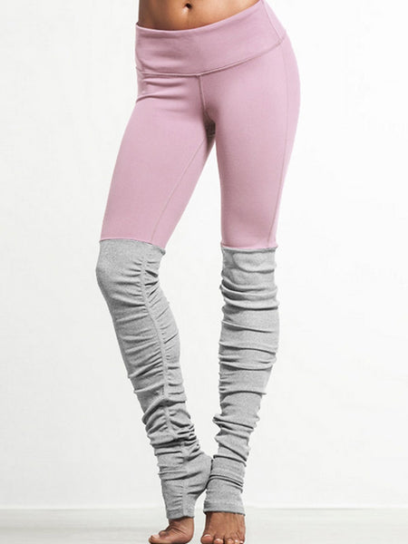 Multi Color Sports Breathable Paneled Thread Legging
