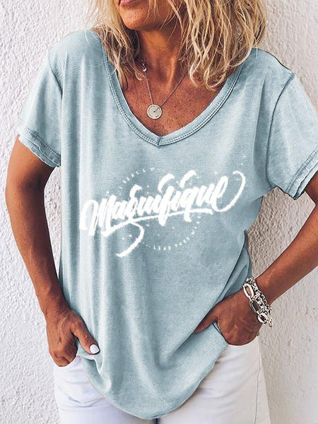 Casual Printed Daily T-shirt
