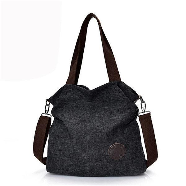 Large Capacity Casual Canvas Handbag Outdoor Shoulder Bag