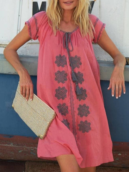 Women Dresses Holiday Boho Linen Dresses