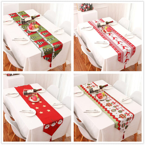 High quality Creative Christmas Cotton Linen Tablecloth