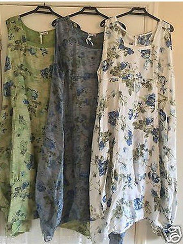 Sleeveless Casual Floral Cotton Dresses
