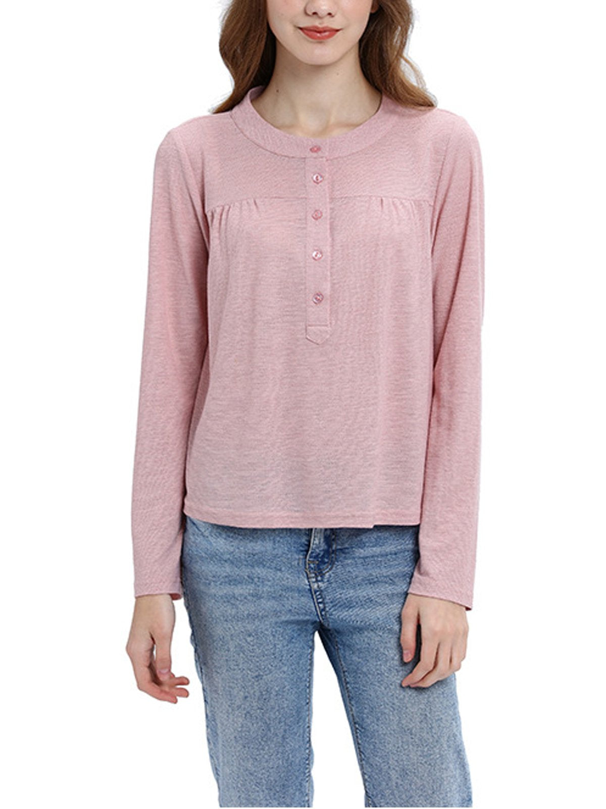Cotton Long Sleeve Shirts & Tops