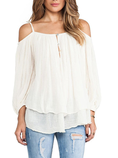 White Sweet Cotton Shirts & Tops