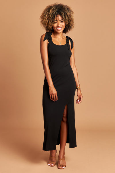 The Stella Dress in Black - Front | Unseam the Label