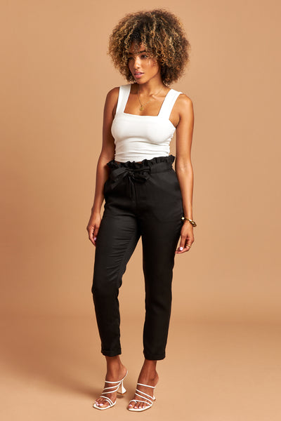 The Emma Pants in Black - Side | Unseam the Label