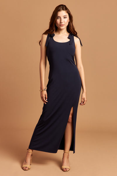 The Stella Dress in Navy - Front | Unseam the Label