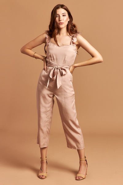 The Natalie Jumpsuit in Light Pink - Front | Unseam the Label